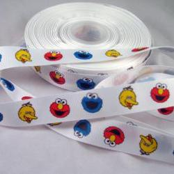 Sesame Street Grosgrain Ribbon - 3 yards, 7/8""