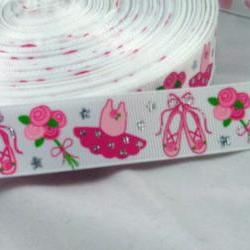 3 Yards of Pretty Ballerina 7/8&quot; Grosgrain Ribbon
