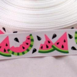 "3 Yards 7/8"" Watermelon Grosgrain Ribbon"