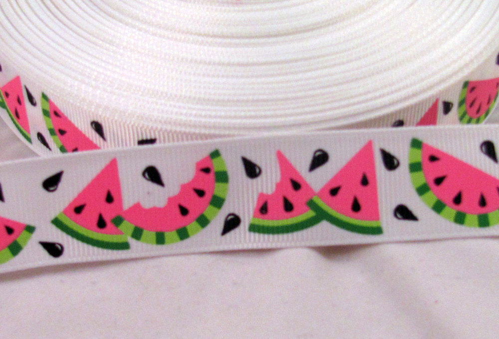 watermelon ribbon grosgrain